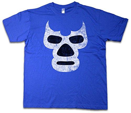 Urban Backwoods Luchador Blue Demon T-Shirt – Messico Wrestling Wrestler Mexican Mexico Latin Latino Sugar Mask Skull Taglie S – 3XL Royal Blue