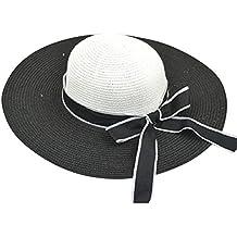 Moollyfox Mujer Verano Elegancia Sombreros de Paja de Sol 5d1e9fd23ae