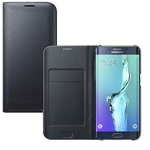 Cover samsung s6 edge plus, lincivius® custodia galaxy s6 edge plus portafoglio protettiva case wallet libro flip cover - colore nero