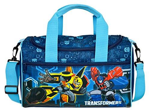 Scooli TFJK7252 - Sporttasche mit Hauptfach und Vortasche, Transformers mit Bumblebee und Optimus Prime Motiv, ca. 35 x 16 x 24 cm