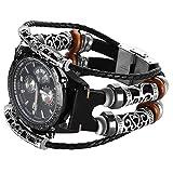 Gear S3 Bracelet en cuir Noir,Samsung Gear S3 Frontier Classic Bande...