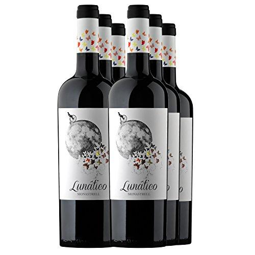 Casa De La Ermita Monastrell Vino Tinto Crianza Lunático, 750 Ml, Paquete De 6 Botellas