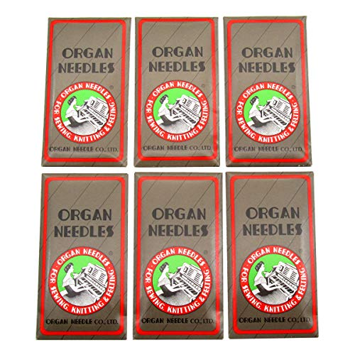 ORGAN AGUJA - Organ-HAX1 AGUJAS DE COSTURA ajuste para SINGER, Pfaff, JANOME, RICCAR, NECCHI, BROTHER+ (Organ-HAX1#9#11#12#14#16#18 60PCS)