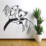 BRILLINT.YY Autocollant Mural Branches D'Arbres Koala Ours Bébé Chambre d'enfant Décalcomanie Art Décor PVC Murale pour La Chambre des Enfants