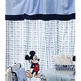 De diseño de la easyworld funda de edredón para cama de color azul de Mickey y Minnie Mouse 2 cortinas gruesas de lunares