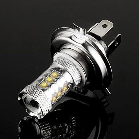 H4 80W Bianco 16 Cree Ha Condotto La Luce Di Nebbia Per Veicoli, Dc 12V - Modulo Di Controllo Staffa