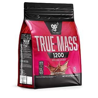 BSN True Mass 1200 Weight Gainer Whey Protein Powder with BCAA's and glutamine. Mass Gainer by BSN -  Chocolate Milkshake, 15 Servings, 4.8kg