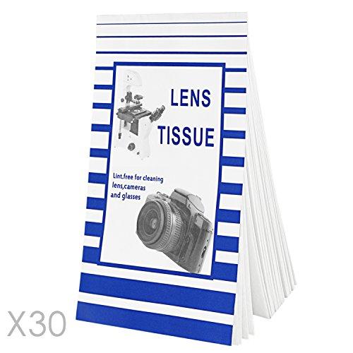Neewer® Kamera-Objektiv-Reinigungstuch & Tuch Set: 30 Hefte Einweg-Linsenreinigungspapier fusselfreies Gewebe (Jedes Heft enthält 50 Blätter) + Ultra-Leichte Mikrofaser-Reinigungstuch -