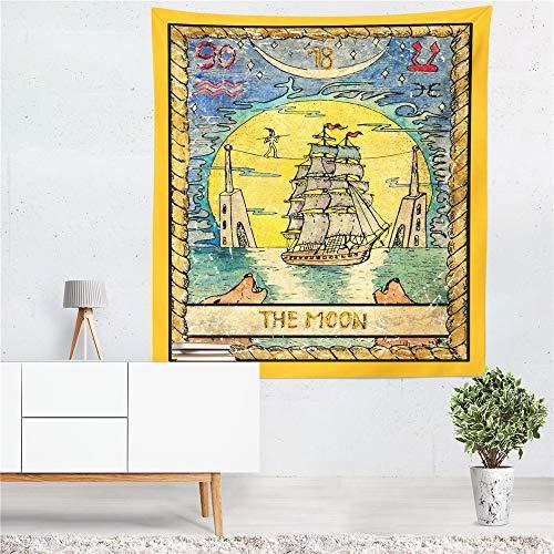 mmzki Tarocchi The Sun Star Moon Arazzo Mandala Hippie Boho Psychedelic Tapestry Wall Hanging Macrame Colorful Home Decor ~ 1 150x200cm