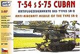 SDV T 54 S-75 Cuban mit Antiflugzeugrakete SA 2 Militär Russischer Panzer Modellbau Kunststoff Modellbausatz 1:87 H0