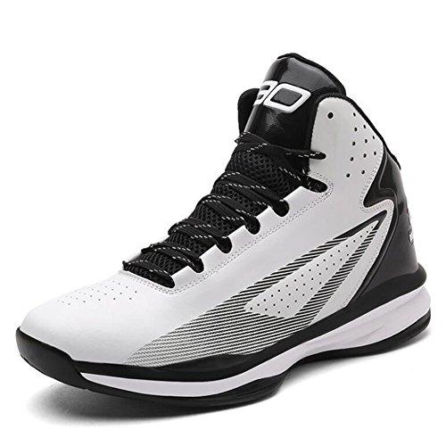 CAI Damenschuhe Turnschuhe 2018 Sommer Damen Student große Yard Basketball Schuhe Männer und Frauen High-Wettbewerb Outdoor-Jogging-Stiefel (Farbe : Weiß, Größe : 38)