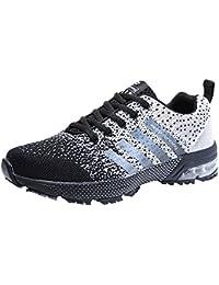 Scarpe da Ginnastica da Uomo Running Sportive Donna Air Cushion Atletico  Allacciare 3cm Sneakers 36- 92c76aecdb4