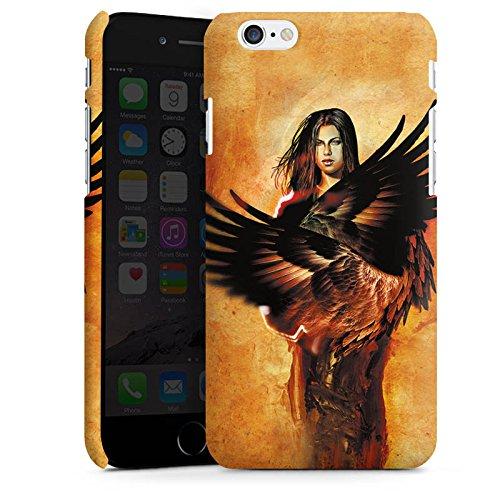 Apple iPhone X Silikon Hülle Case Schutzhülle Engel Flügel Frau Premium Case matt