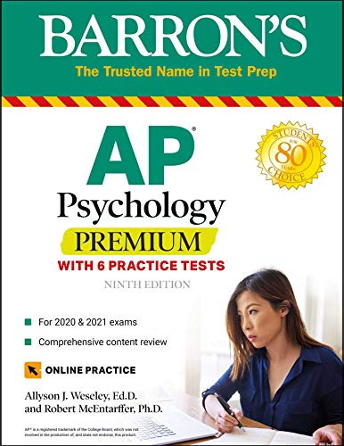 AP Psychology Premium: With 6 Practice Tests (Barron's Test Prep)