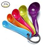 Kanggest 5Pcs Cucharas de Medición Plásticas Coloridas en