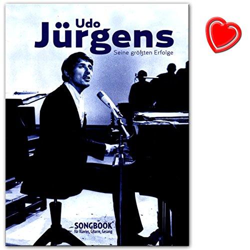 Udo Jürgens - Seine größten Erfolge für Klavier, Gesang und Gitarre - Songbook mit mit bunter herzförmiger Notenklammer - Verlag: Bosworth - BOE7881 - 9783865439772