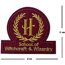 Schule für Hexerei und Zauberei Stickerei Patch Eisen auf oder Nähen auf Hogwarts gesticktes Motiv Harry Potter Transfer Blatt Aufnäher