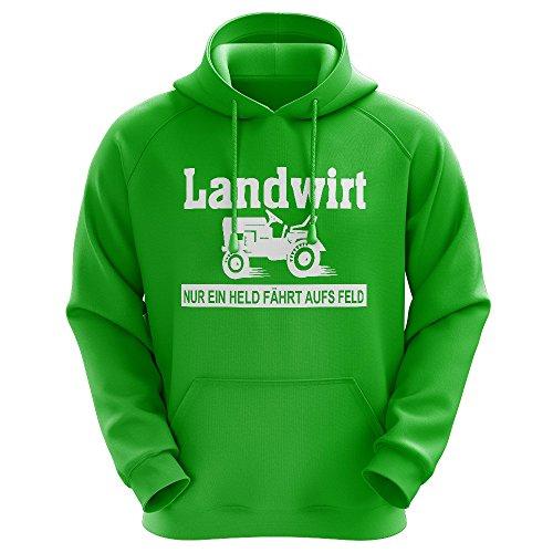 John Deere Hoodie Sweatshirt (FABTEE - Nur ein Held fährt aufs Feld - Landwirt Bauer Traktor - Männer Hoodie - verschiedene Farben - Größen S-2XL)