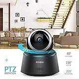 fredi Sicherheitskamera, WiFi 1080P IP, Drahtlose Überwachungskamera, Bewegungsmelder, Infrarot-Nachtsicht, Pan Tilt P2P WPS IR-Cut, bidirektionales Babyphone.