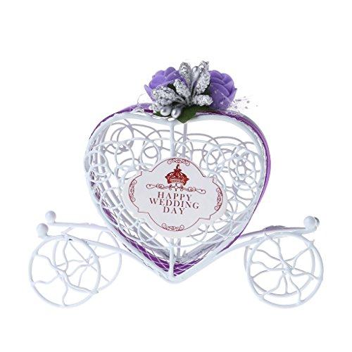 Cuigu Pralinenschachtel, Cinderella Carriage Form Pralinenschachtel für Geburtstag Hochzeit Party Decor (Lila)
