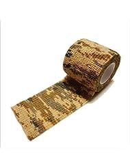 Edealing 2PCS Nuevo Kombat Cautela cinta Wrap Rifle fresca Disparos Ejército Camo camuflaje