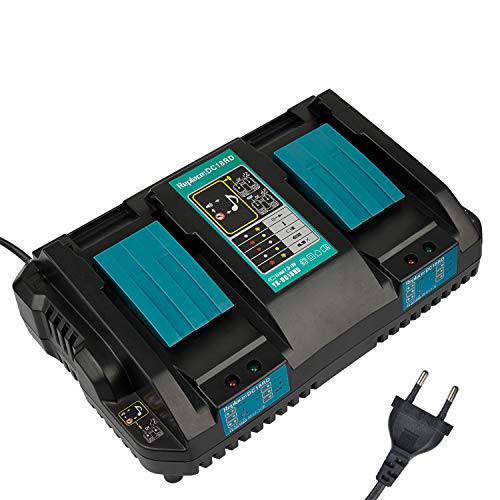 Nuevo Reemplazo 2-en-1 DC18RD Batería de iones de litio de doble puerto 14.4-18V 4.0A Cargador rápido para Makita BL1830 1850 BL1830 BL1850B BL1820 BL1815 BL1840B BL1450