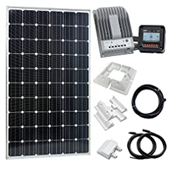 280 W 12 V/24 V solare ricarica kit per camper, roulotte, camper, barca, yacht, domestici off-grid o backup power System
