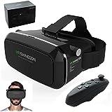 Realidad Virtual VR Shinecon Gafas Visor 3d juegos de realidad virtual Gear películas Google cartón con Bluetooth mando a distancia para Apple Iphone 66s Plus, Android Samsung Galaxy S5S6S7edge Note IOS