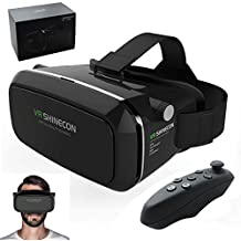 Realidad Virtual VR Shinecon Gafas Visor 3d juegos de realidad virtual Gear películas Google cartón con Bluetooth mando a distancia para Apple Iphone 6 6s Plus, Android Samsung Galaxy S5 S6 S7 edge Note IOS