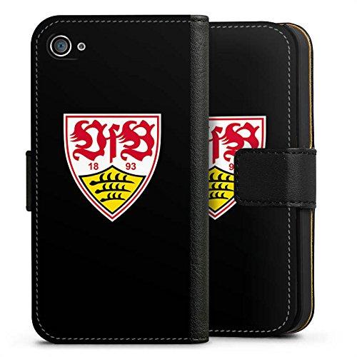 Apple iPhone 7 Hülle Case Handyhülle VfB Stuttgart Fanartikel 1893 Fußball Sideflip Tasche schwarz