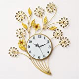 RFVBNM Wohnzimmer Uhr moderne Eisen minimalistische Mode Europäische Persönlichkeit Uhr Stumm D/54*60cm