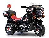 Kaiser-Handel.de Kinder Elektro Motorrad Akku American Police Style Harley Chopper Cross Bike 6V tt (schwarz)