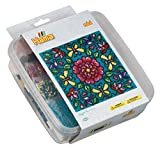 Hama 5402 Bügelperlen Mini, ca. 10.500 in Box, inklusive 4 Stiftplatten Viereck und Zubehör, Blumen, Mehrfarbig