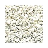 Weißer Marmorsplitt 25 kg Zierkies Ziersplitt Deko Marmor Dekoration Splitt NEU