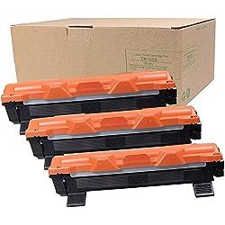 TN de 1050tóner 1500páginas compatible para Brother HL-1110, HL-1112, hl-1210W, hl-1212W, DCP-1510, DCP-1512, DCP-1610W, DCP-1612W, MFC de 1810, MFC de 1815, MFC MFC-1910W Negro 3 unidad