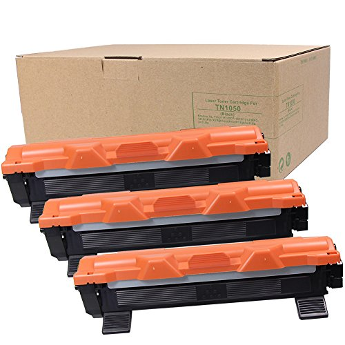 Preisvergleich Produktbild 3 x TN-1050 Toner 1.500 Seiten für Brother HL-1110, HL-1112, HL-1210W,DCP-1510, DCP-1512,DCP-1612W, MFC-1815, MFC-1910W Schwarz