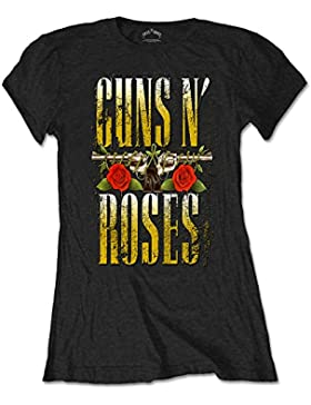 Rockoff Trade N' Roses Big Guns, Camiseta para Mujer