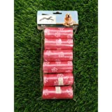 Pets Empire Pet Waste Bags Dog Poop Bags Unscented Biodegradable Dog Paw Prints 6 Rolls 15 Bags (Color May Vary)
