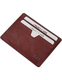 Extraplano tarjetero para tarjeta de crédito vegetal cuero curtido en varios colores