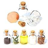 20er SET Mini-Fläschchen 1,5ml aus Echtglas mit Korken für Dekoration, zur Aufbewahrung kleiner Mengen oder als Puppenfläschchen - Marke Ganzoo