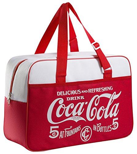 Meliconi coca cola classic borsa termica 24 lt, 600d pu, rosso/bianco, 45x18x31 cm