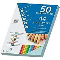 Dohe - Set Di 50 Cartoncini, Formato A4 Azul Sado