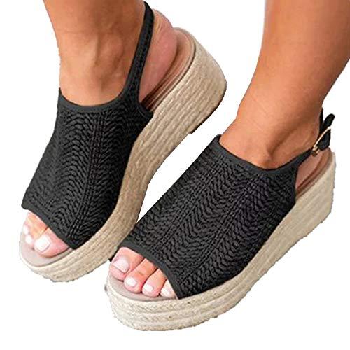 Wenyujh' Sandalen Damen Keilabsatz Schuhe Wedges Schuhe Mit Absatz Sandaletten Strandschuhe Riemchensandalen (Wedges Schuhe)