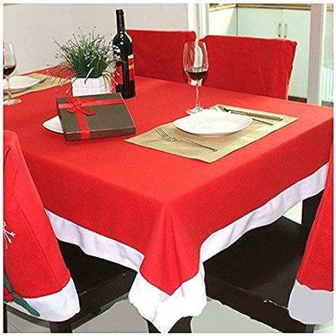 Tovaglia, tovaglia rettangolare, Rosso per tavolo, Festival Vacanza Tema Natalizio da tavola tovaglia, decorazione, decorazione per la casa