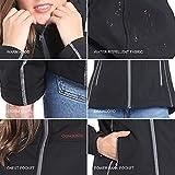 CONQUECO Damen Beheizte Jacke Beheizbare Softshell Heiz Jacke Wasserdicht Winddicht warm mit Akku und Ladegerät zum Outdoor Arbeiten (S) - 5
