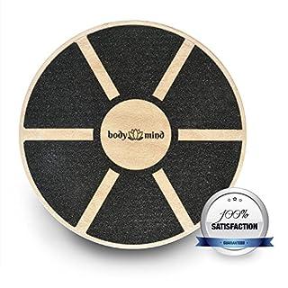 Body & Mind Balance-Board Deluxe Wackelbrett aus Holz für Physio-Therapie-Kreisel-Training; Trainiert Gleichgewicht & Koordination