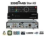 Zgemma H5 è un decoder Zgemmastar-H5 Combo HD per la Tv SAT e Digitale Terrestre e IPTV, compatibile HEVC H265, con tuner DVB-T2 e DVB-S2 immagine