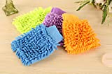 Sandbox Double Sided Microfiber Dusting Cleaning Glove for Home Office Kitchen Hotel - Pack of 2, Medium Size (Assorted)