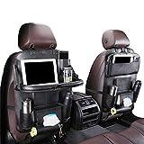 Auto Organizer Auto Rückenlehnenschutz mit klappbarem Tisch PU Leder Auto Rücksitz Für Kinder Babyspielzeug und Tablette (1 Stück)