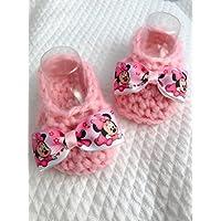 Babyschuhe | Neugeborene Stiefel Minnie Disney | Wolle Geschenkidee | der Nodocreativo